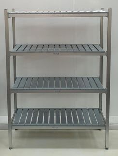 CCE Aluminum Shelving 4 Tier @ 450mm Deep and 2000mm High - All Options