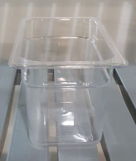 Polycarbonate Clear GN 1/4 - 150mm - Item JD-P1415