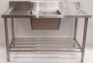 Stainless Steel Single Sink Bench 1500mm - Centre - New - $1019 + GST