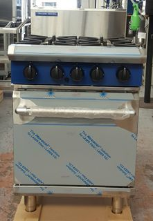 Blue Seal 4 Burner with Static Oven - Item 8324