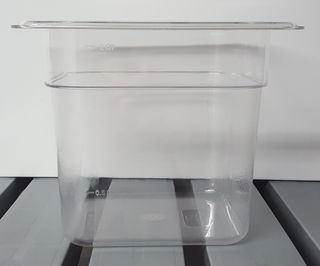 Polycarbonate Clear GN Food Pan 1/6 - 150mm - Item JD-P1615