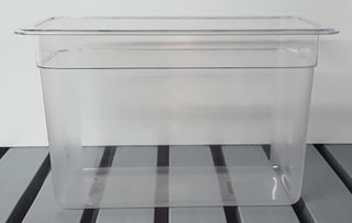 Polycarbonate Clear GN Food Pan 1/3 - 200mm - Item JD-P1320