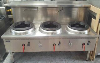 Cobra Gas Waterless Wok with 1 Chimney burner and 2 Duckbill burners - Used - $3295 + GST