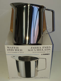 Iced Water Stainless Jug 2L - New - $12.50 + GST