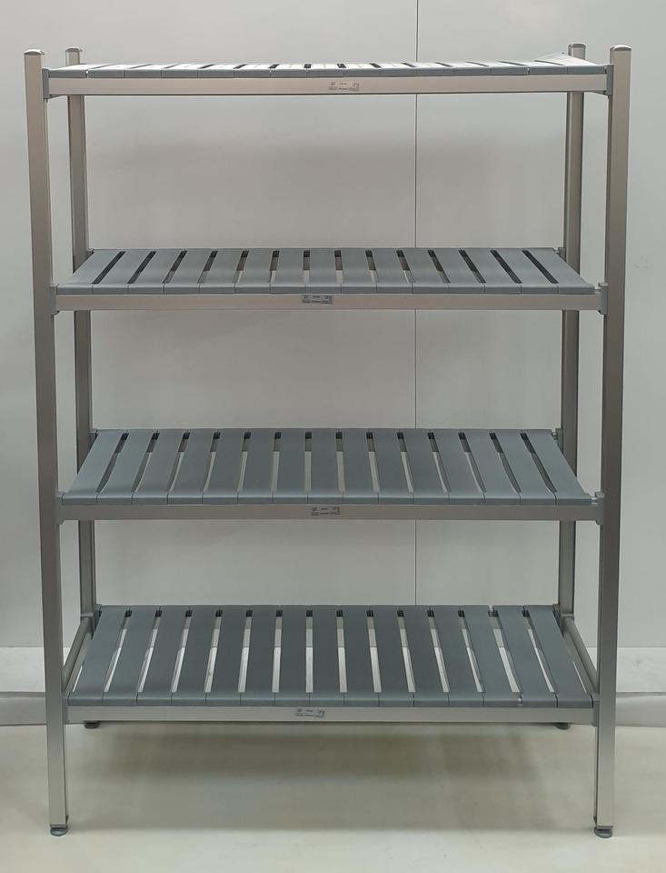 CCE Aluminum Shelving 4 Tier 775mm x 450 x 2000 - $340 + GST