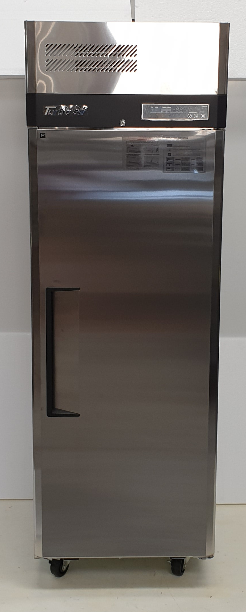 Turbo Air Vertical Stainless Single Door Freezer - New - $3295 + GST