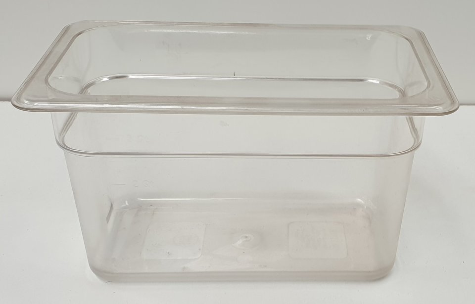 Polycarbonate Clear GN 1/4 - 150mm - New - $12.50 + GST
