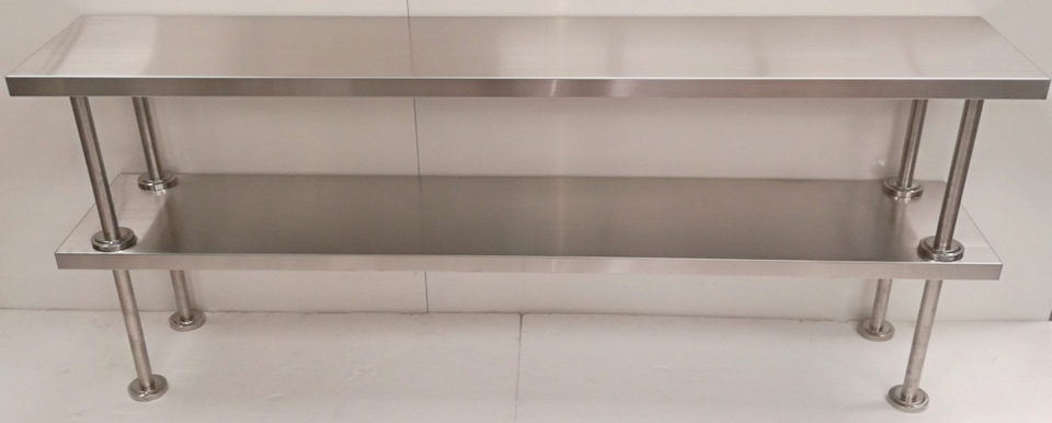 Stainless Steel Double Over Shelf - New - $475 + GST