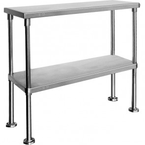 Stainless Steel Double Over Shelf - Item DBOS18030