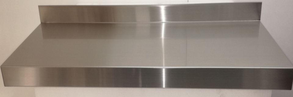 Stainless Steel Solid Wall Shelf 600mm - New - $125 + GST