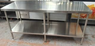 Stainless Steel Flat Workbench 1800mm x 800 x 900 - Item FIB18080