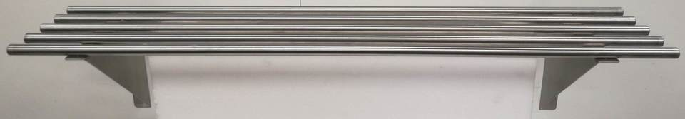 Stainless Pipe Wall Shelf 1500mm - New - $229 + GST