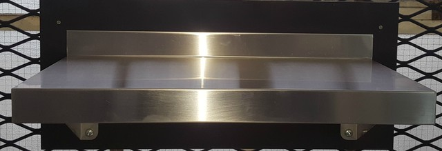 Stainless Steel Solid Wall Shelf 900mm - Item SWS09030