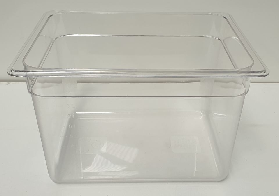 Polycarbonate Clear GN Food Pan 1/2 - 200mm - New - $24.95 + GST