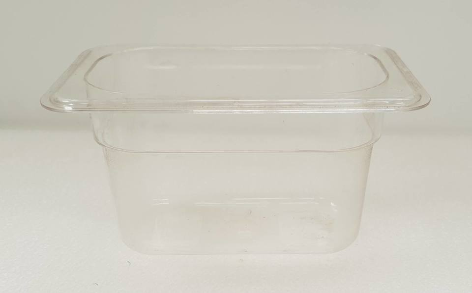 Polycarbonate Clear GN Food Pan 1/6 - 100mm - New - $8.90 + GST