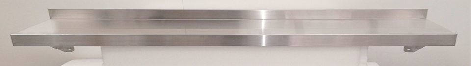 Stainless Steel Solid Wall Shelf 1800mm - New - $255 + GST