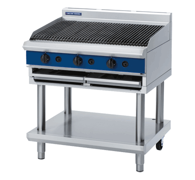 Blue Seal Char Grill on Leg Stand (900mm) - Nat Gas / LPG - New - $5469 + GST